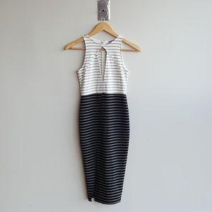 White and Black Striped asos Dress